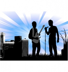 concert with urban vector image