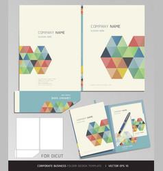 Corporate identity business set folder design vector