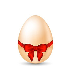 Easter celebration egg wrapping red bow vector image vector image