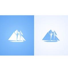 Icon of Sailing Ship vector image vector image