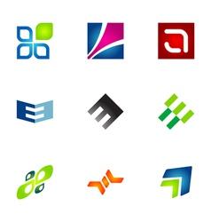 logo design elements set 78 vector image vector image