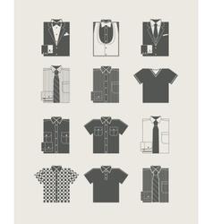 Menswear Icon set vector image vector image