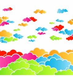 rainbow cloudscape background vector image