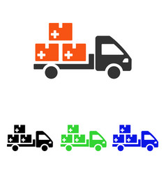 medication delivery flat icon vector image vector image