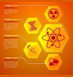 medicine orange poster vector image vector image