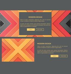 modern design web page on vector image
