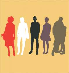 urban people vector image vector image
