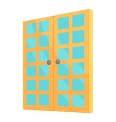 Double room door icon cartoon style vector