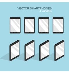 modern flat smartphone icons set vector image