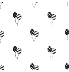 Patriotic balloons icon in black style isolated on vector image