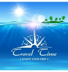 Travel Time poster Enjoy Your Trip banner vector image