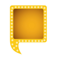 yellow square chat bubble vector image vector image