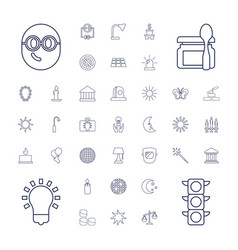 37 light icons vector