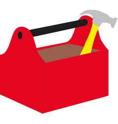 A toolbox with tools vector