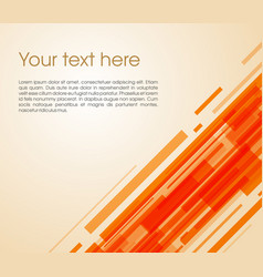 Abstract oblique rectangle background in orange vector