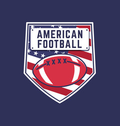 american football logo template fantasy league vector image