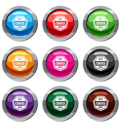 Best choise label set 9 collection vector