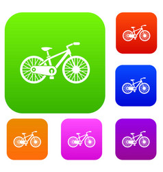 bicycle set collection vector image