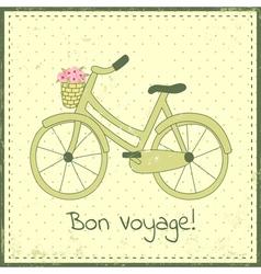 Bike postcard vector