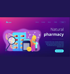 biopharmacology products concept landing page vector image