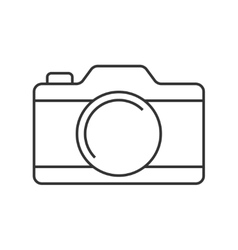 Camera thin line icon vector