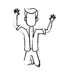 Cartoon man happy enjoy expressive vector