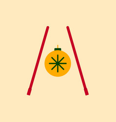 Chopsticks of chinese new year vector