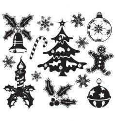 Christmas design element set vector image