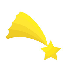 christmas star of bethlehem flat icon on white vector image