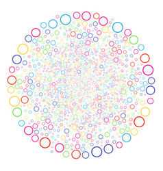 circle bubble exploding globula vector image