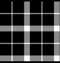 classic monochrome pixel tartan seamless pattern vector image