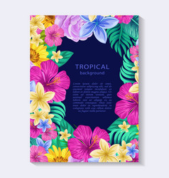 Colorful botanical vertical banner vector