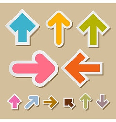 Colorful Paper Arrows on Brown Background vector