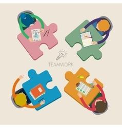 Concept of creative teamwork vector image