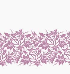 Decorative floral horizontal border vector