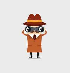 detective with binocular vector image