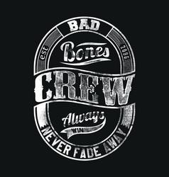 Distressed crew vector