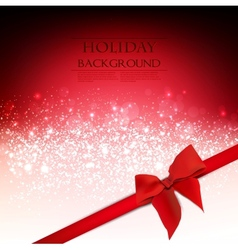 Elegant Holiday Red background with bow and place vector image