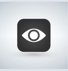 eye app icon design isolated on white vector image