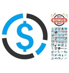 Financial Diagram Icon With 2017 Year Bonus vector image