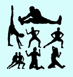 fitness gymnastic body building weightlifting s vector image