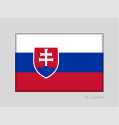 Flag of slovakia national ensign aspect ratio 2 vector