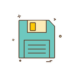 Floppy icon design vector