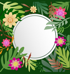 Floral and leaves with copy space background vector