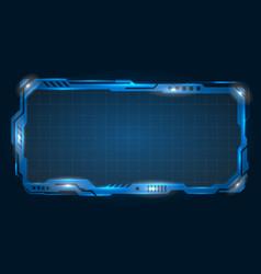 futuristic empty frame modern border vector image