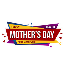 happy mothers day banner design vector image
