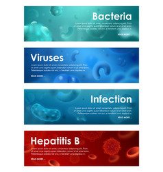 Hepatitis b and infection bacteria and viruses vector