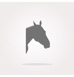 horse sign button web app icon Web Icon vector image