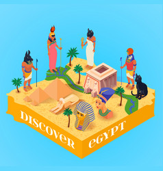 Isometric egypt poster vector