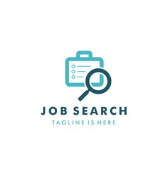 job search logo template design vector image